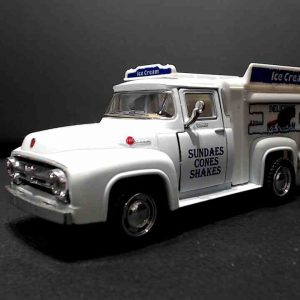 Ford Pickup F-100 1956 Ice Cream Picolé Truck – Kinsmart – 1/38