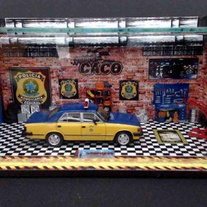 Diorama Pequeno –  Opala Policia Rodoviária Federal