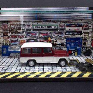 Diorama Pequeno – Rural Willys – Vermelho