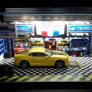 Diorama Pequeno – Camaro Amarelo