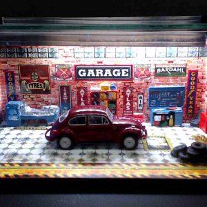 Diorama Pequeno – Fusca Vermelho