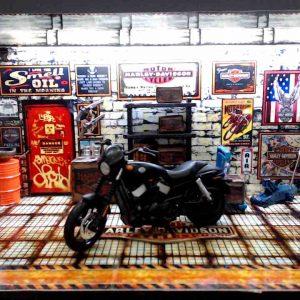 Diorama Harley Modelo 4