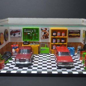 Diorama Pequeno – Para 2 Carros – Sem Iluminação de Led – Acompanha 2 Carros