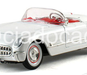 Chevrolet Corvette (1953) – Free Wheels – Branca – 1:38 – Maisto