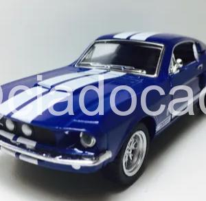 Shelby Gt-500 1967 Azul 1/38 Kinsmart