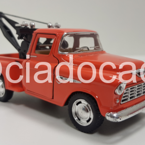 Carrinho 1953 Guincho Chevrolet 3100 Wrecker laranja – 1/32 – Kinsmart