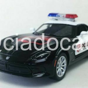 Dodge Viper Gts Srt 2013 Viatura Polícia Kinsmart 1:36