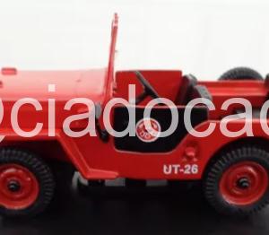 Jeep Willys Corpo De Bombeiros Escala 1/43